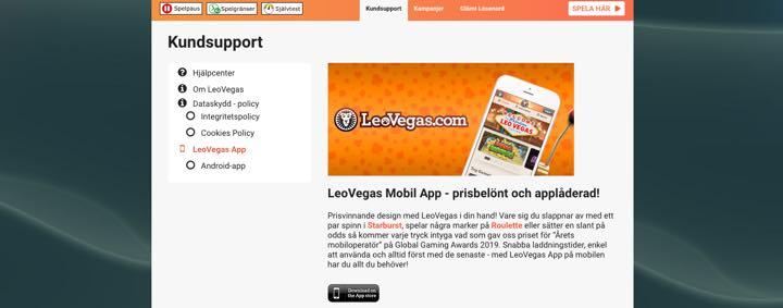 LeoVegas Mobil App